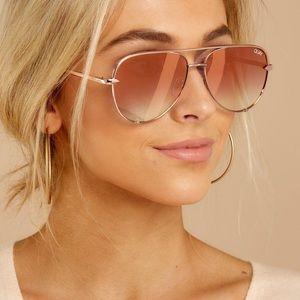 Quay Rose Gold Fade High Key Sunglasses